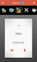 Screenshot of Learn Korean with voice