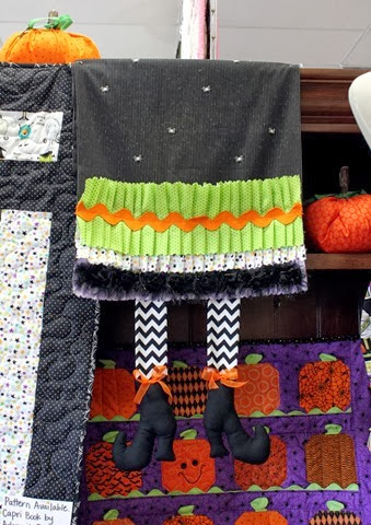 Cute Halloween Table Runner via The Fabric Mill