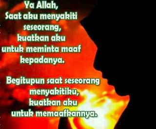 Doa agar sentiasa memaafkan.