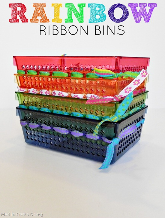 Rainbow Ribbon Bins