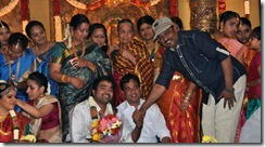 K.Bhagyaraj at Tamil Actor Mirchi Shiva and Priya Wedding Photos