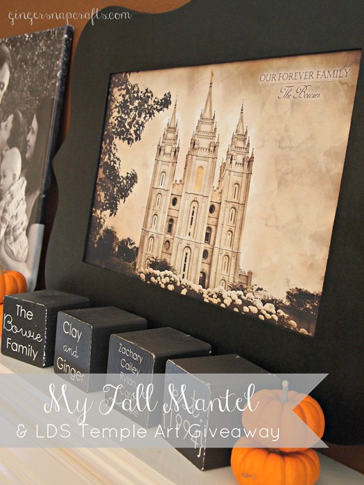 My Fall Mantel & LDS Temple Art Giveaway
