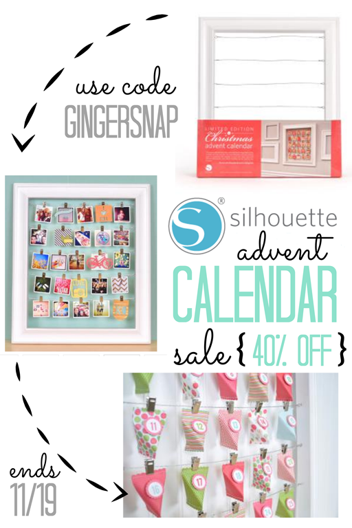 Silhouette Advent Calendar Promotion ~ 40 off using code GINGERSNAP 11192013 #spon