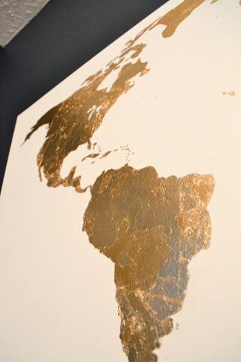 gold leaf art closeup