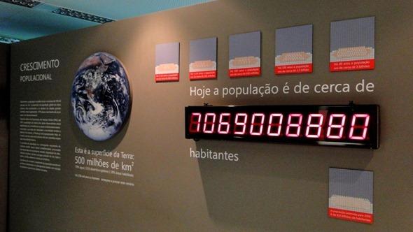 Painel mostra o crescimento populacional