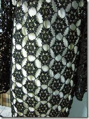 crochet long black vest 3