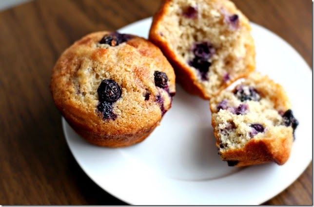 Skinny Blueberry Muffins4