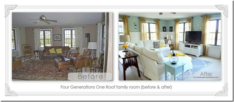 Family room collage