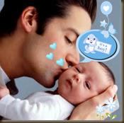 papá con bebé