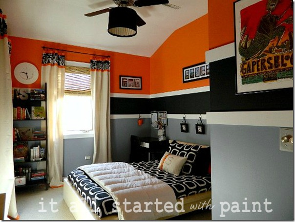 Teen Room orange gray black 2