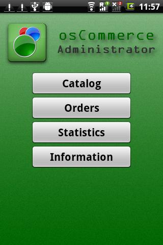 osCommerce Administrator - screenshot