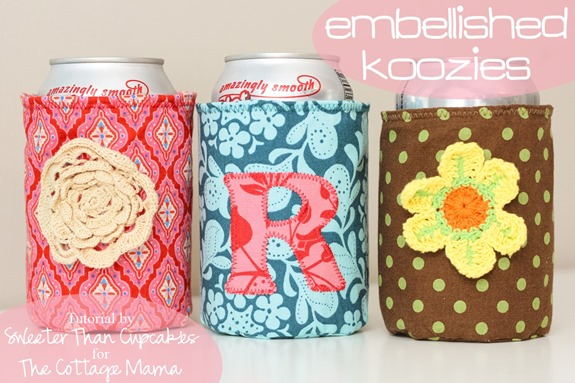 Embellished Koozies Tutorial