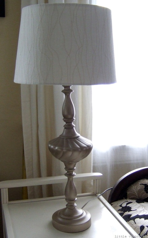 spray painting lamps from goodwill (Little Victorian)