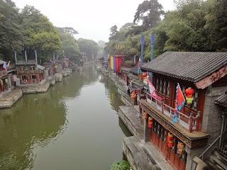 Rue Suzhou dans le Palais d'été à Beijing