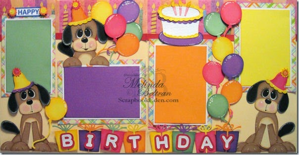 BIRTHDAY DOGS PAPER PIECING LAYOUT SYI 600