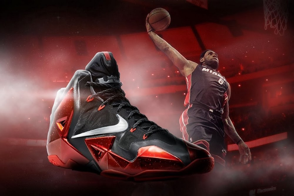 new concept fc220 5f281 Release Reminder  Nike LeBron XI (11) Miami Heat Away   NIKE LEBRON - LeBron  James Shoes