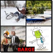 BARGE- 4 Pics 1 Word Answers 3 Letters