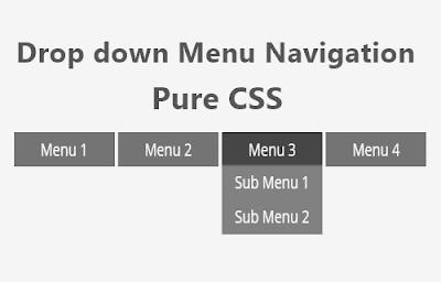 Tạo thanh Menu Dropdown chỉ dùng CSS cho blogger