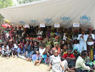 Des regugiés pris en charge par le HCR au Sud-Kivu en RDCongo, 6/10/2010.