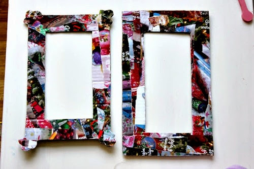 Magazine Collage Picture Frames - Imagination Tree