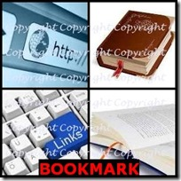 BOOKMARK- 4 Pics 1 Word Answers 3 Letters
