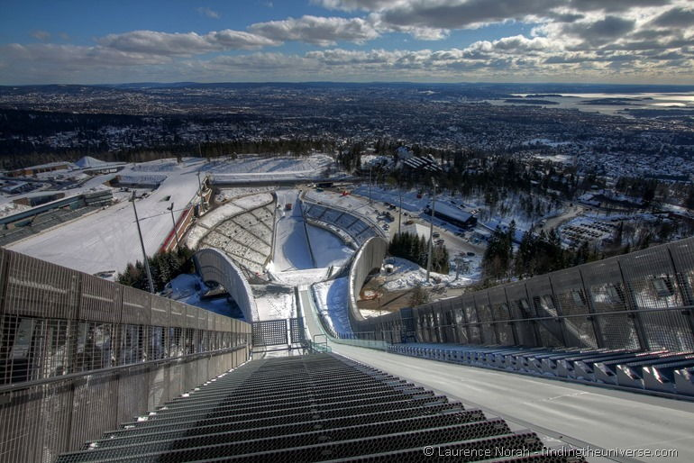 Oslo view from top of holmenkollen