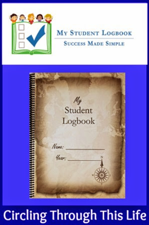 My Student Logbook ~ A record keeping and accountibilty tool. Perfect for keeping records to create high school transcripts ~ Read Tess's review at Circling Through This Life
