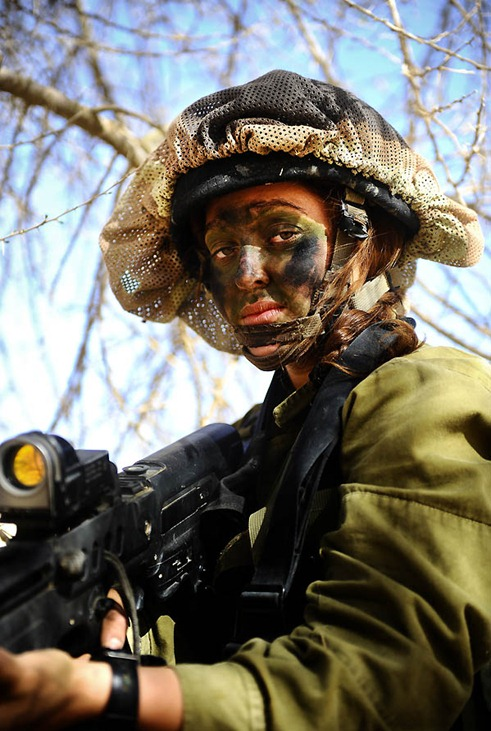 """Close Up"". Soldiers of the Caracal co-ed battalion during a platoon exercise in southern Israel, 2012."
