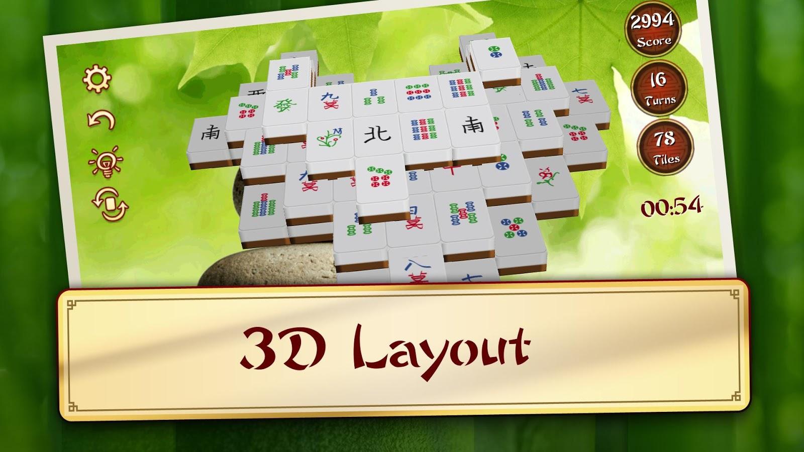 3D Mahjong Mountain PREMIUM - screenshot