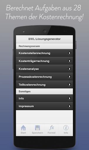 BWL Lösungsgenerator PRO
