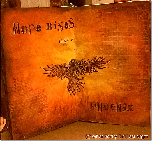 What Becky Did Last Night: Art Journal – Hope Rises Like a
