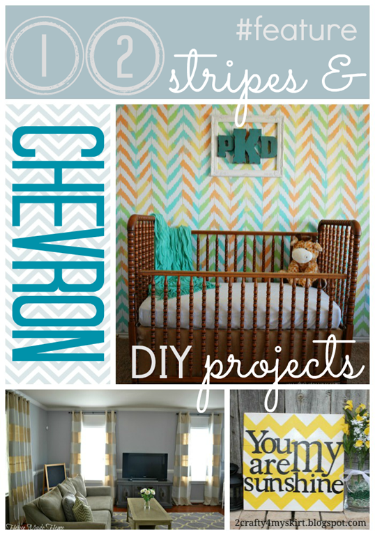 12 Stripes & Chevron DIY projects #feature #gingersnapcrafts #linkparty