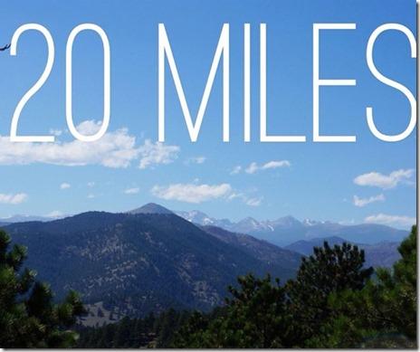 Boulder 20 Miler