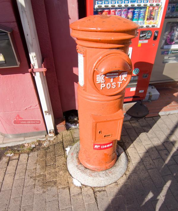 日本輕井澤橘色郵筒