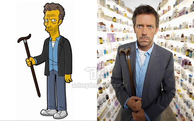 Foto de la version Simpson de Dr House