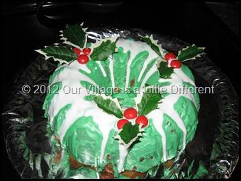 Holly Wreath Bundt Cake