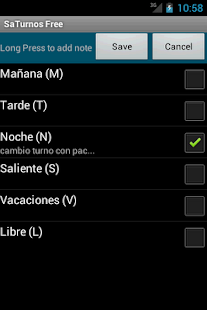 SaTurnos Free Calendar - screenshot thumbnail