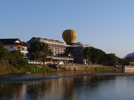 Zbor cu balonul in Laos