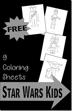 FREE Star Wars Kids Coloring Pages - These are such fun coloring sheets for Toddler, Preschool, Kindergarten, and 1st grade kids who are into Star Wars.