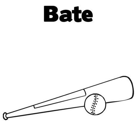 Dibujos De Bates De Beisbol Para Colorear