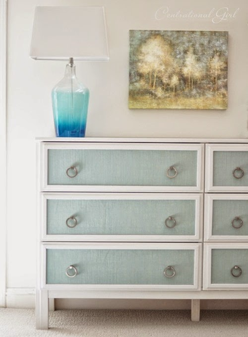 ikea-dresser-makeover-with-blue-burlap-panels