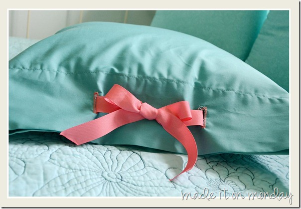 Tied Pillow Case 1