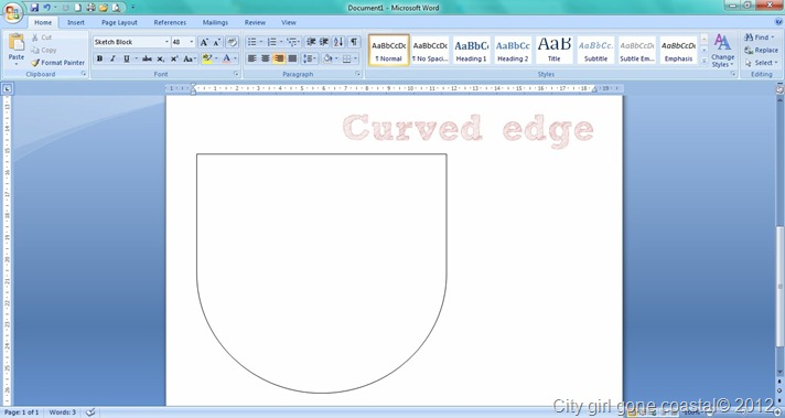 curved edge