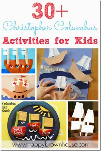 30 Christopher Columbus Activities for Kids #preschool #kidsactiviites #craftsforkids #preschool #homeschool #education