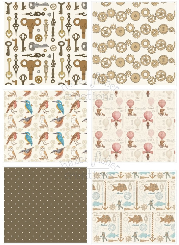 2014 May 12 Spoonflower fabric designs steampunk