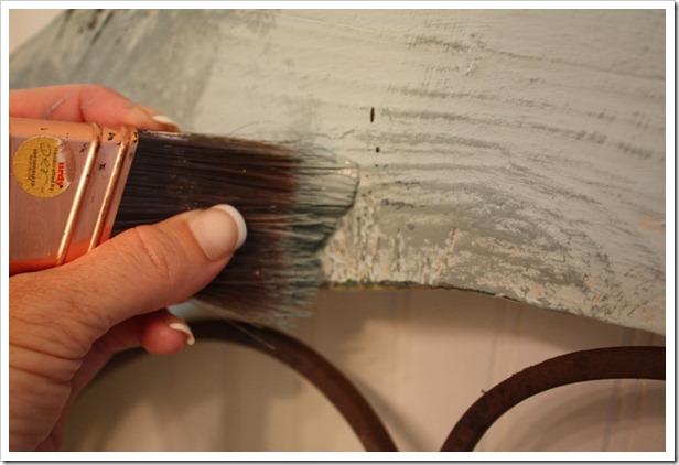 dry brush over wood grain