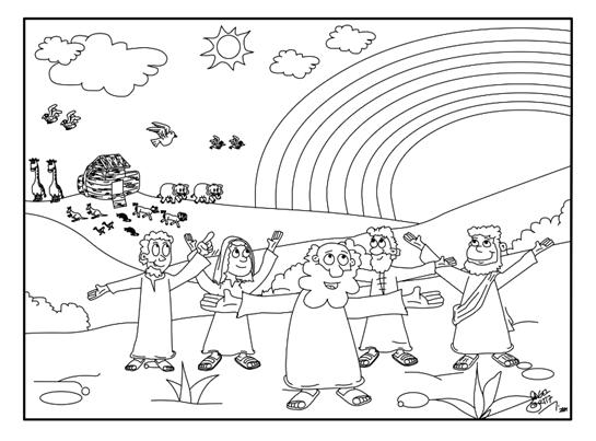 Dibujos Para Colorear Del Arca De Noe Para Imprimir: Iluminar El Arca De Noe Pictures To Pin On Pinterest