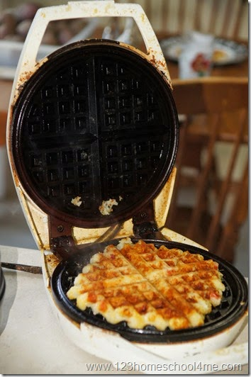 cook your potato waffle 3-5 minutes
