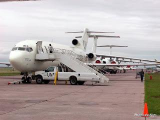 Des avions de la MONUSCO à l'aéroport de N'Djili, Kinshasa, 2002.