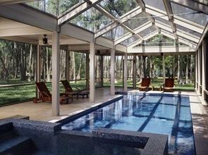 diseño de piscina cubierta